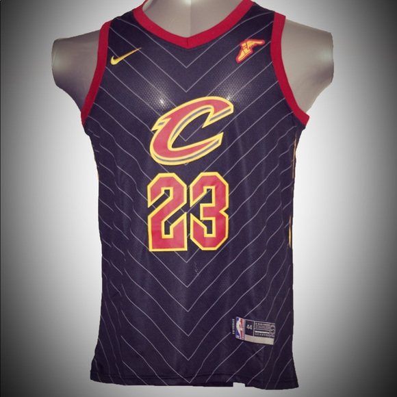 best service 2eac8 13a1a Lebron James #23 Cleveland Cavaliers jersey black